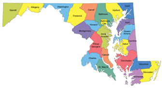 counties of maryland map Counties In Maryland counties of maryland map