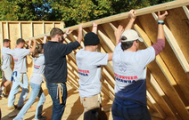 Catawba Volunteers with Habitat for Humanity