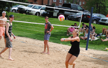 Catawba Students Playing Sand Volleyball