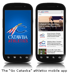 Catawba Athletics Mobile App Screenshots