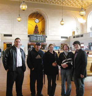 Catawba Year of Inquiry students in Grand Central Station