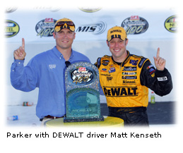 Parker with Kenseth