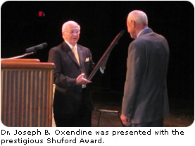 Oxendine Receives Honor