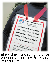 Black Shirt and Signage